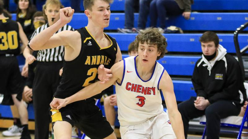 Game between Cheney and Andale at Halstead on Monday, Jan. 18, 2021.
