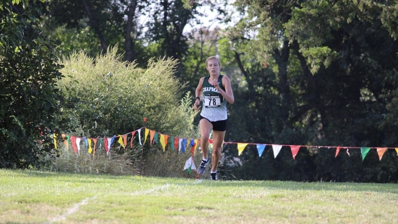 Taylor Briggs competes in cross country