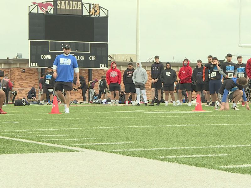 Sharp Combine in Salina, KS for high school football players.