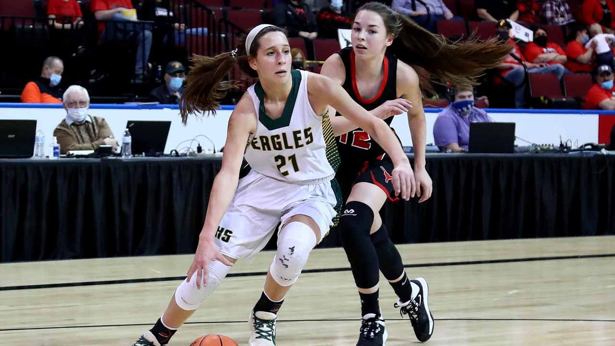 The Olpe girls defeated Hodgeman County 38-21 in a 1AD1 State Basketball semifinal game at the...