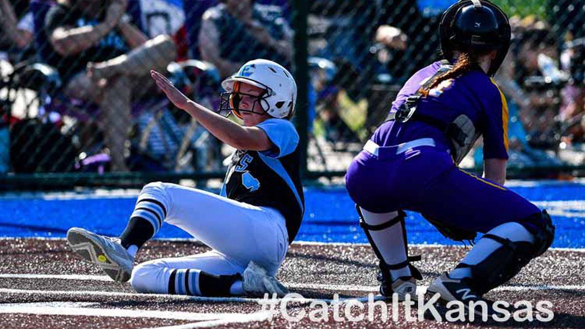 May, 16, 2018; Andover, Kansas, USA;  during the 5A Softball Regional at Andover...