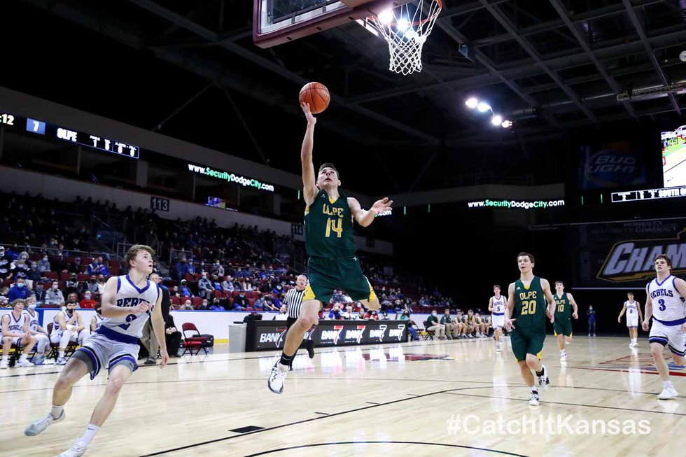 Olpe defeated South Gray 54-47 to win the 2021 1AD1 State Basketball Championship game at the...