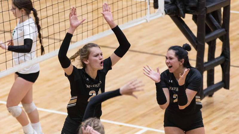 Match between Derby and Maize South at Maize South on Tuesday, Sept. 21, 2021.