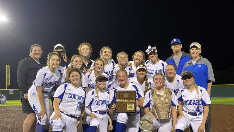 Goddard outlasted Andover in 10 innings Wednesday, 3-1, to reach the 5A State Tournament