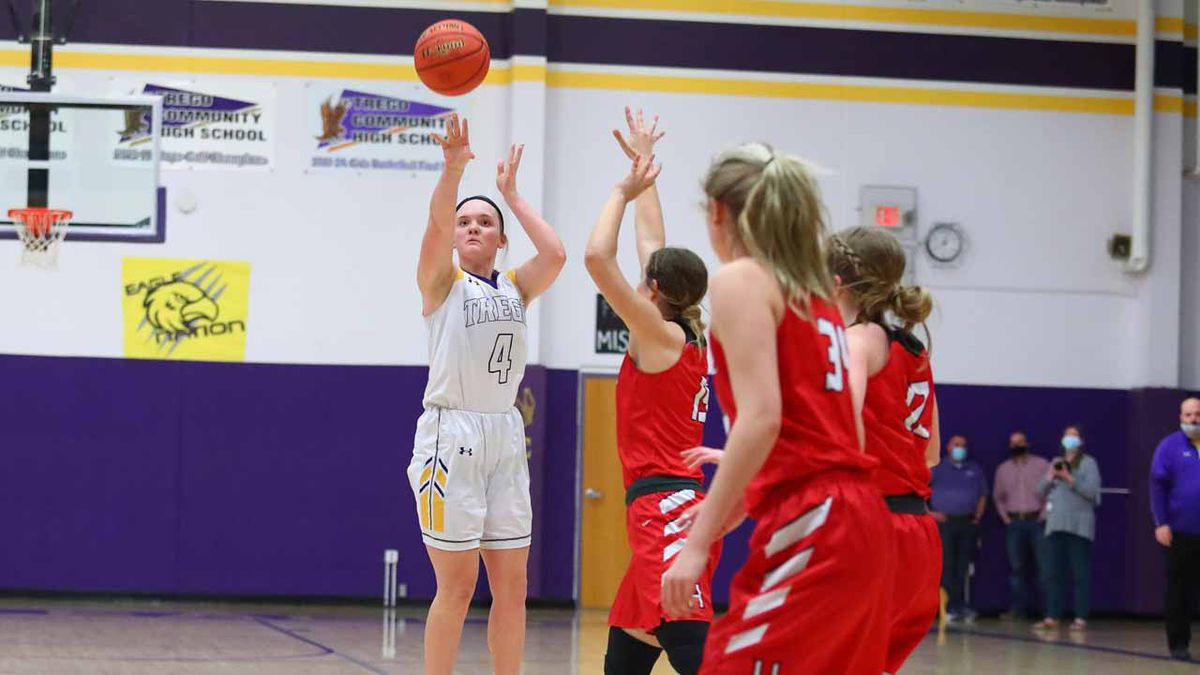 In their fourth meeting of the season, Trego Community defeated Hoxie for a spot in the...
