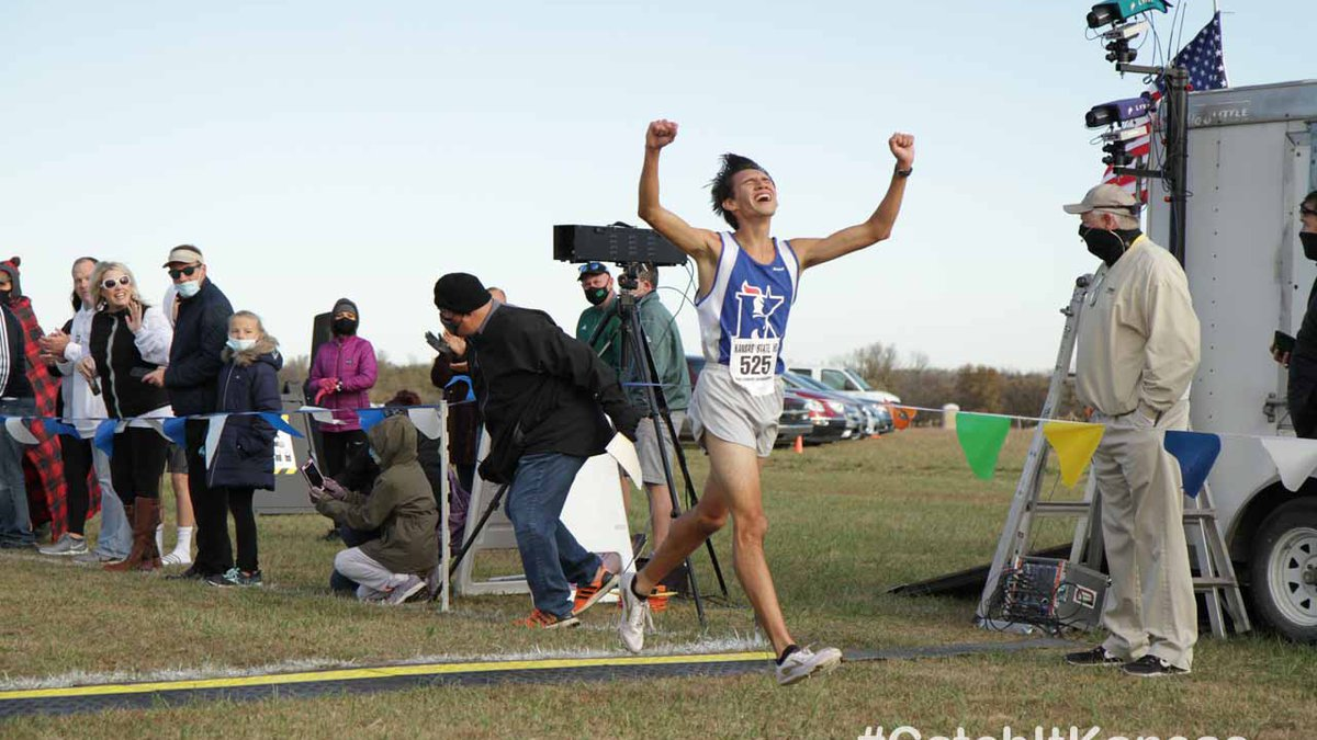 The Maize South girls and Aquinas boys took home team championships at 5A State Cross Country...