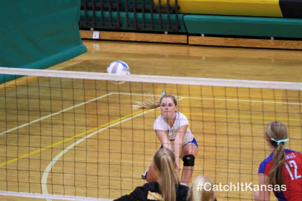 Bishop Carroll, Cheney and Andale competed in a volleyball tri on September 21, 2020