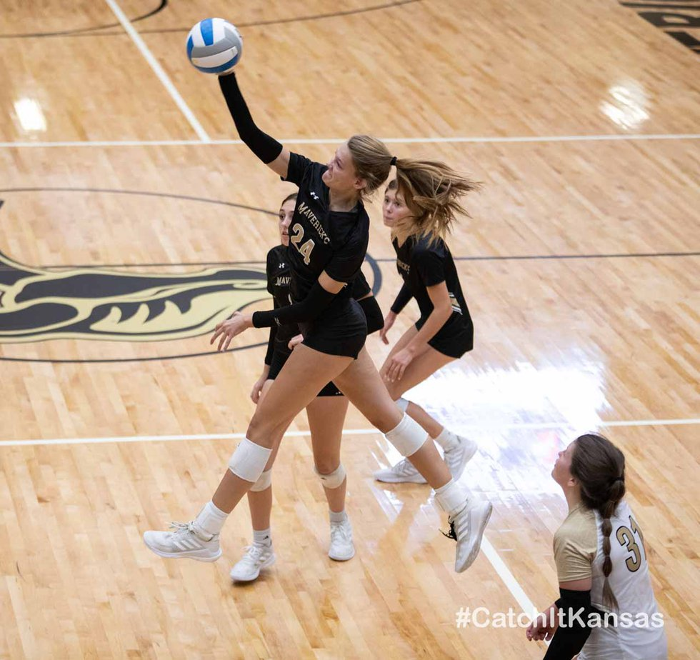 Match between Maize South and Haysville Campus at Maize South on Tuesday, Sept. 21, 2021.