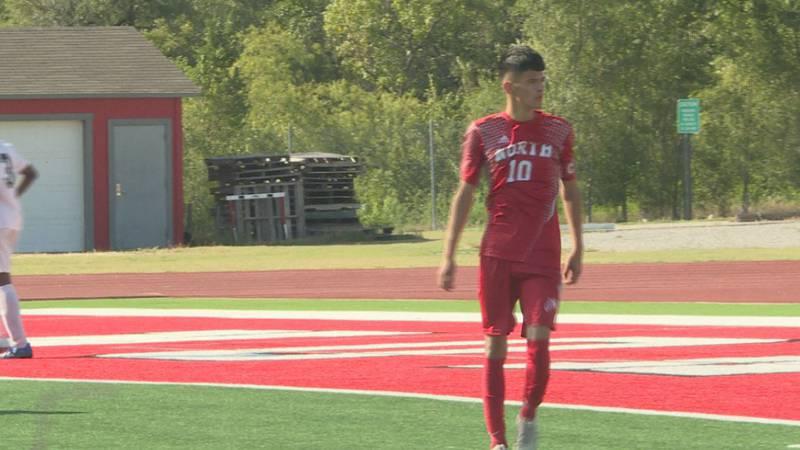 Wichita North boys soccer Uriel Aguilera-Fernandez