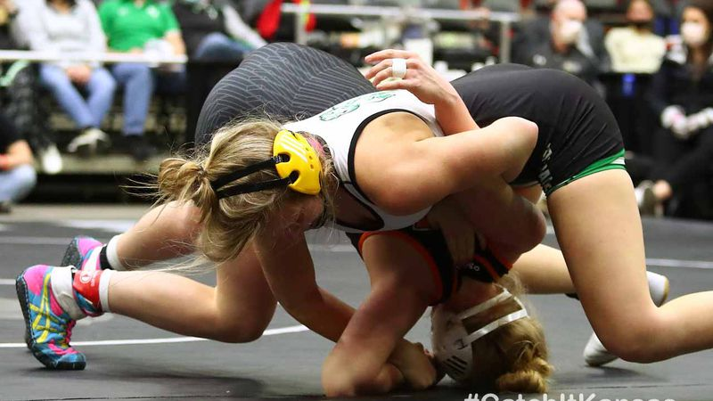The 2021 Kansas Division II Girls State Wrestling Tournament Finals at the Tony's Pizza Events...