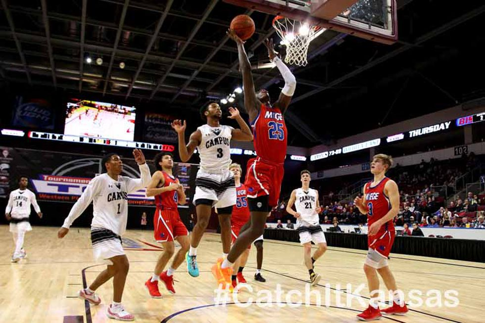 Haysville-Campus defeated Bishop Miege 64-59 in OT in the Championship game of the 77th Annual...