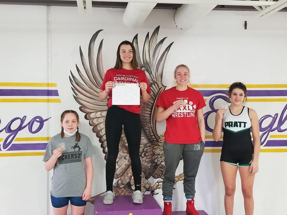 Hoisington sophomore Tally Wikum won the 138 pound weight class
