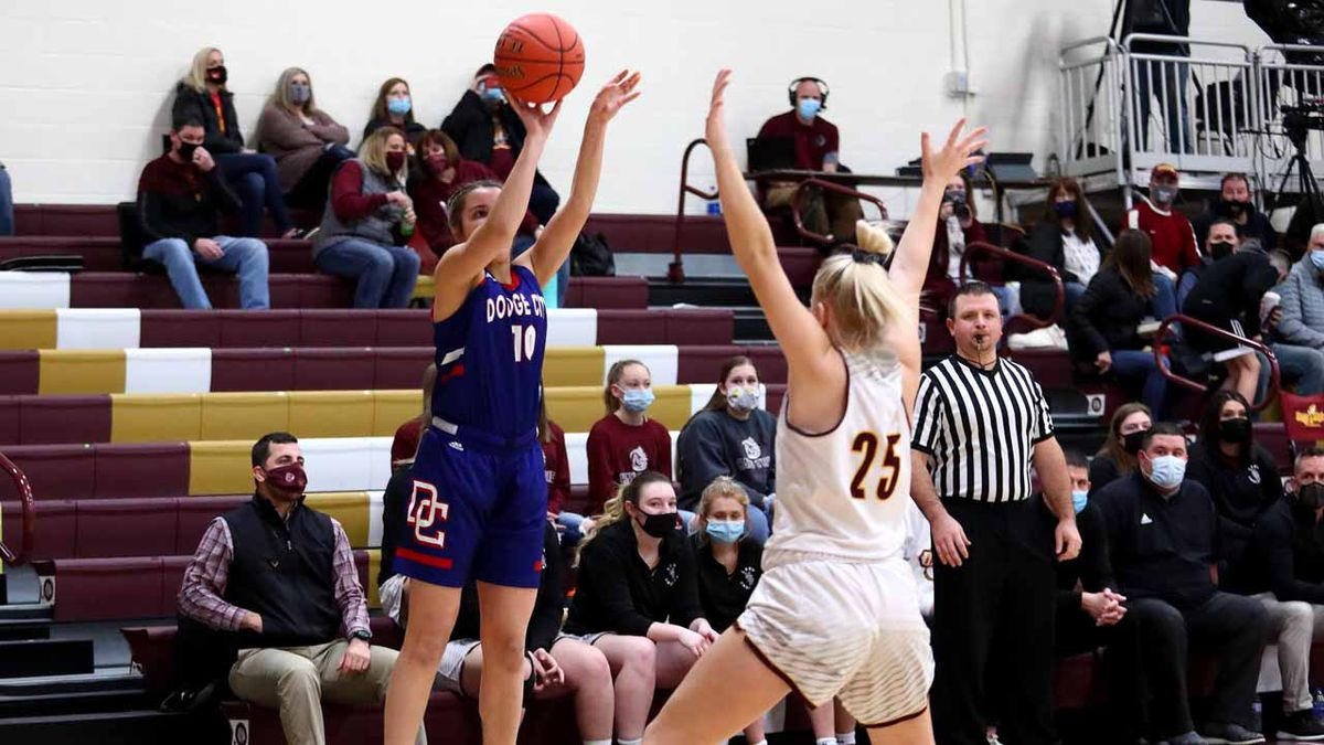 Dodge City defeated Hays High 52-26 in Hays on Friday, February 5, 2021.  (Photo: Everett...