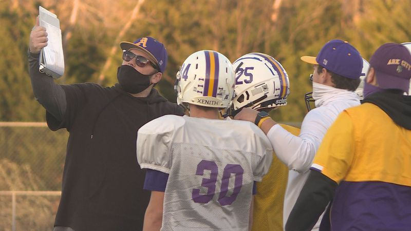 Ark City football prepares for McPherson in 4A state semifinals.