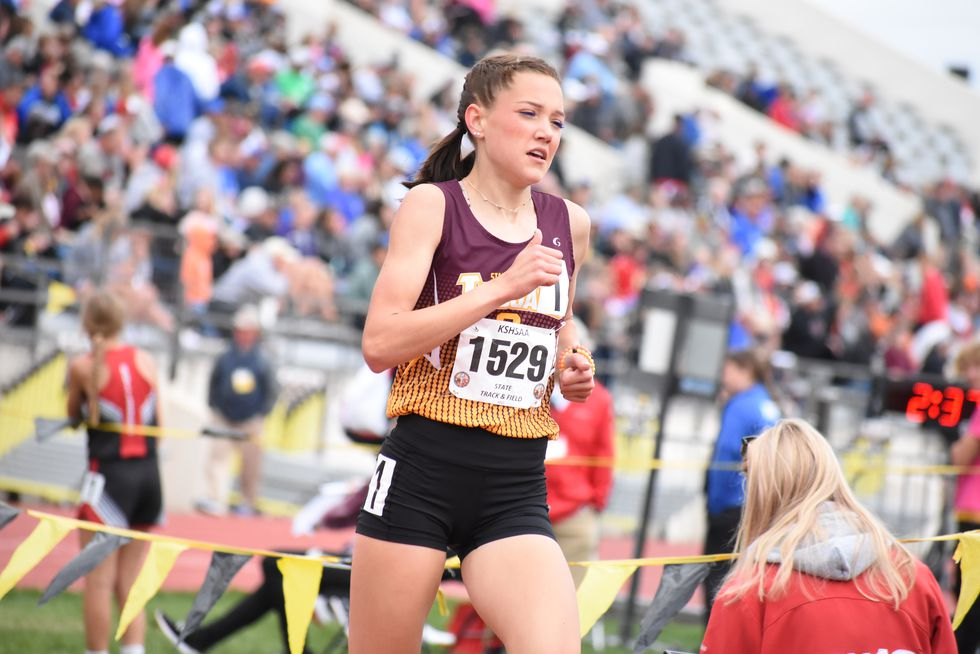 Stanton County sophomore Chesney Peterson won four gold medals Saturday. She set a 2A state...