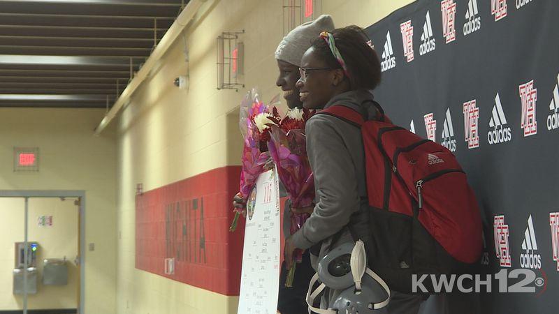 Sisters, Bilhah and Rodah Bengi, lead strong wrestling group at Wichita North high school