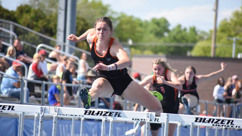 Smoky Valley senior Belle Peters won four golds at Thursday's Central Kansas League...