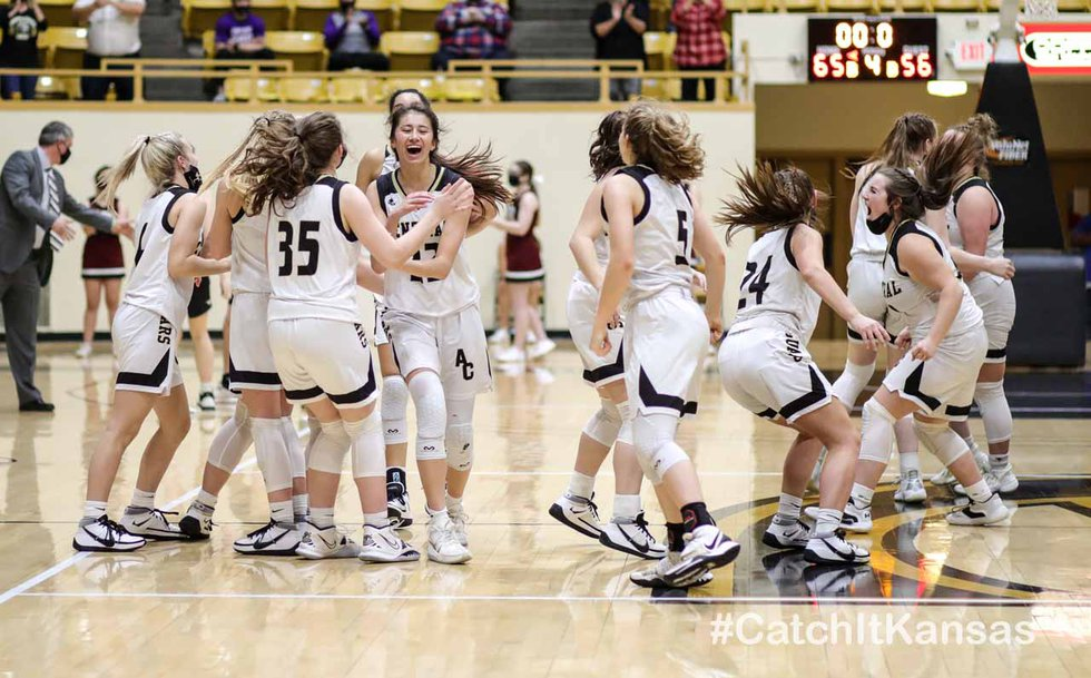 5A State Basketball Semifinals game between Andover Central and Salina Central at W.L. White...