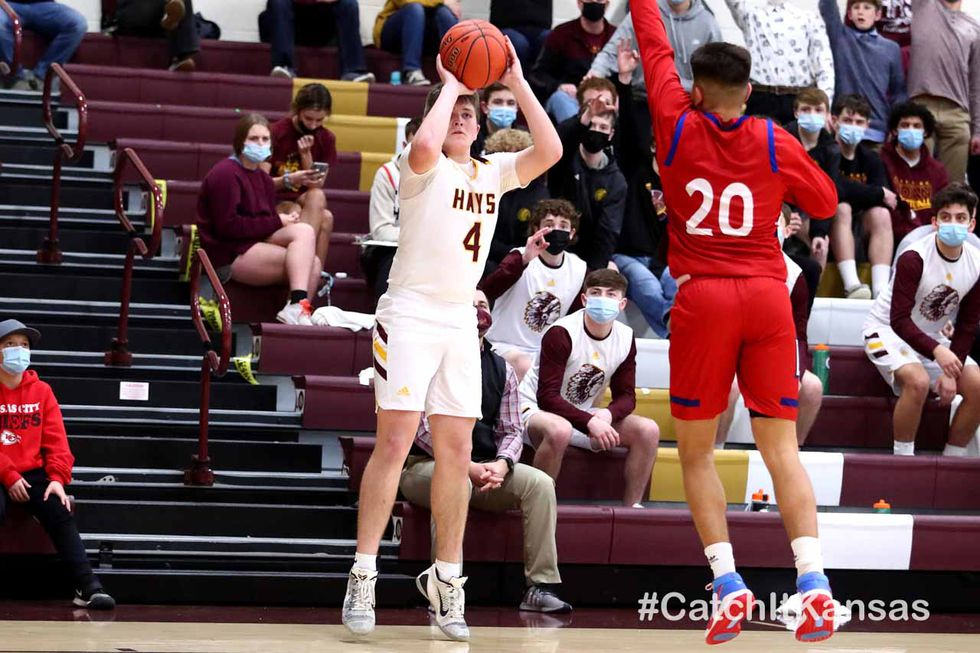 Hays High defeated Dodge City 44-38 in Hays on Friday, February 5, 2021.  (Photo: Everett...