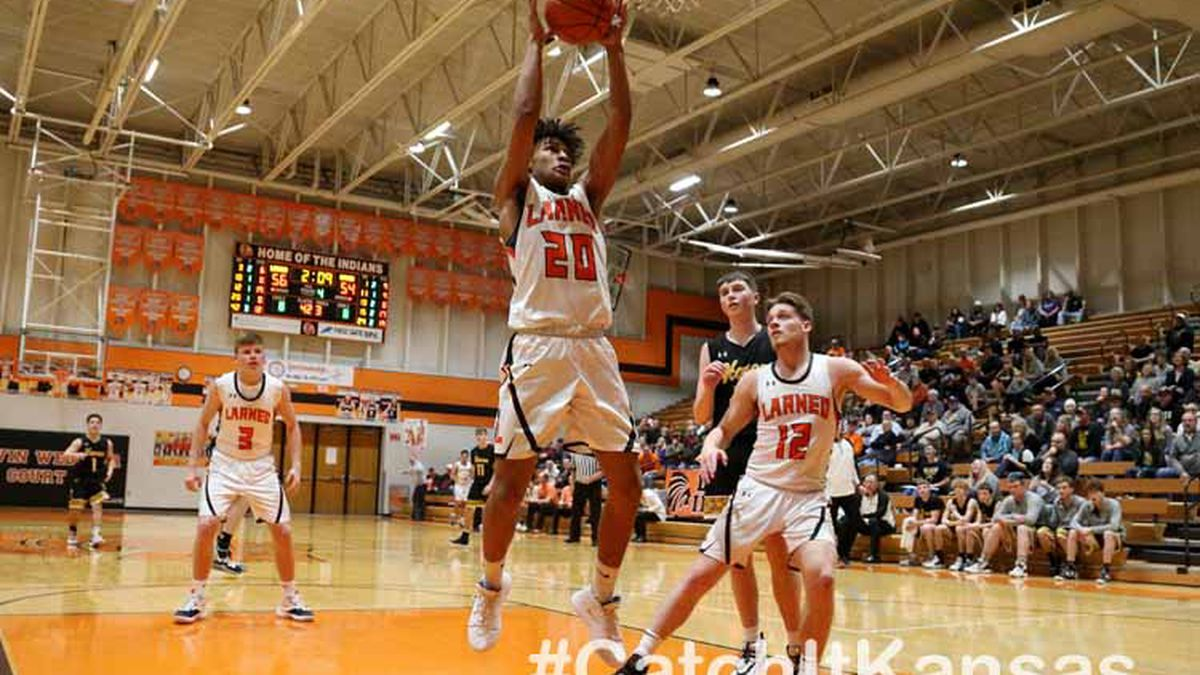 Larned defeated Haven 61-55 in OT in Larned on Tuesday, February 11, 2020.  (Photo: Everett Royer, www.ksportsimages.com)