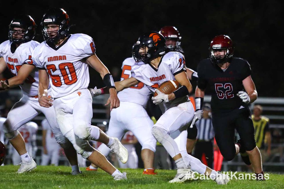 Inman defeated Plainville 48-3 in Plainville on Friday, October 1, 2021. (©Everett Royer,...