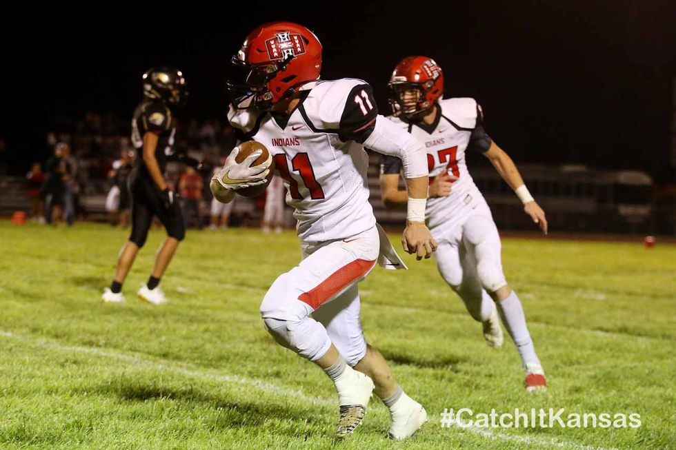 Hoxie defeated LaCrosse 36-14 in LaCrosse on Friday, September 11, 2020.  (Photo: Everett...