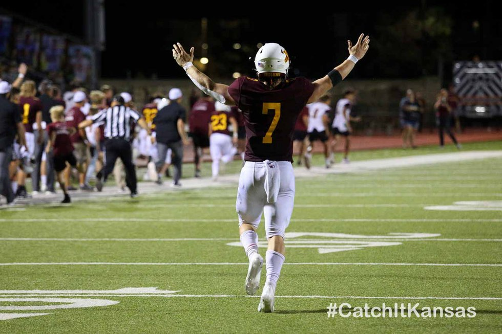 Hays High defeated Wichita East 35-6 at Lewis Field Stadium in Hays on September 3, 2021....
