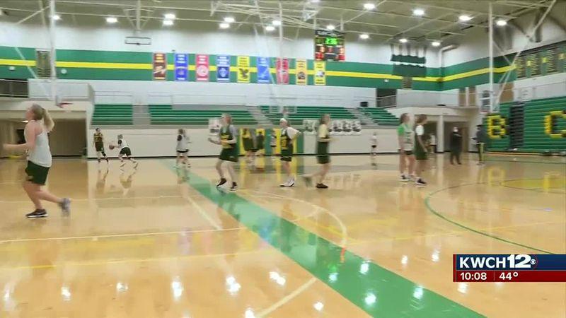 Bishop Carroll girls basketball practice