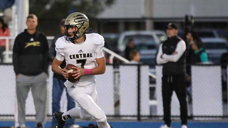 Game between Andover and Andover Central at Andover on Friday, Oct. 15, 2021.