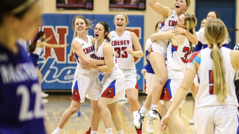 State quarterfinals game between Cheney and Halstead at Cheney on Monday, Mar. 8, 2021.