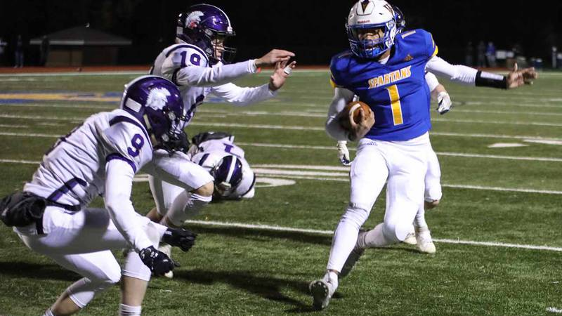 Game between Wichita Collegiate and Southeast of Saline at Wichita Collegiate on Friday, Nov....