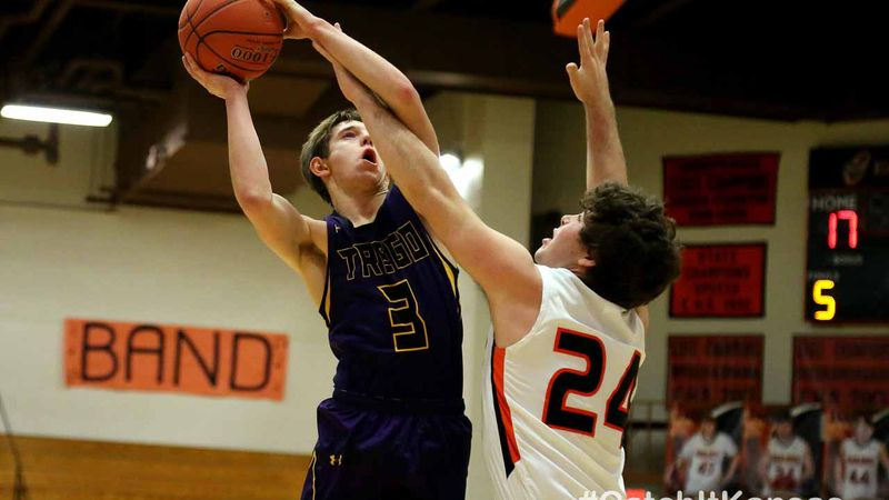 Trego County defeated Ellis 56-50 in an MCL Tournament semifinal game in Ellis, Friday, January...