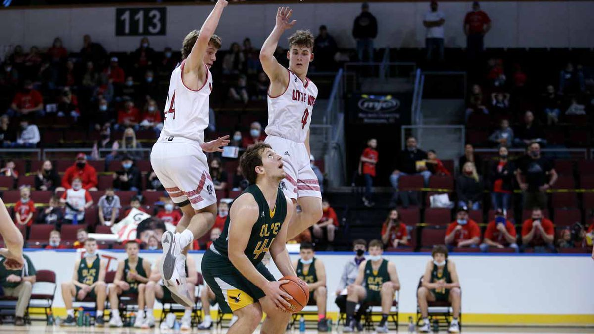 The Olpe boys defeated Little River 75-66 in a 1AD1 State Basketball semifinal game at the...