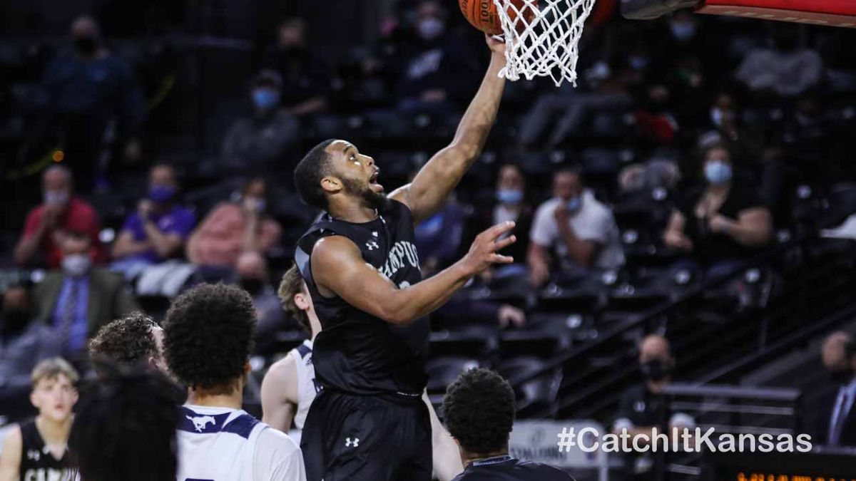 6A Boys State Championship game between Blue Valley North and Campus at Koch Arena on Saturday,...