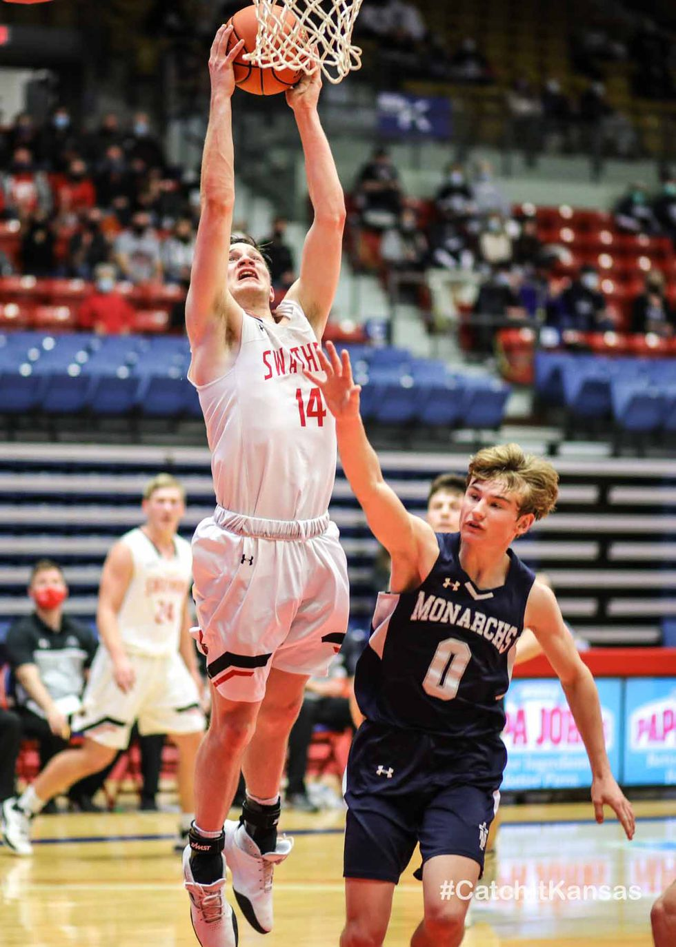 3A Boys State Semifinals game between Hesston and Hays TMP at the Hutchinson Sports Arena in...