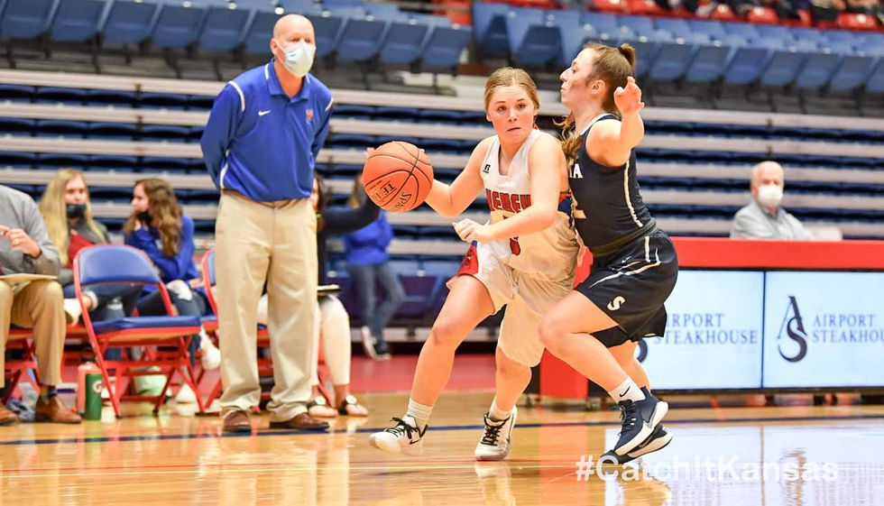 Mar 13, 2021; Hutchinson, Kansas, USA; during the 3A State Championship game between Cheney and...