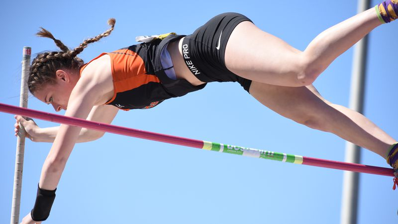 Smoky Valley senior Belle Peters ranks No. 5 all-time in Kansas at 12-10 in the pole vault. She...