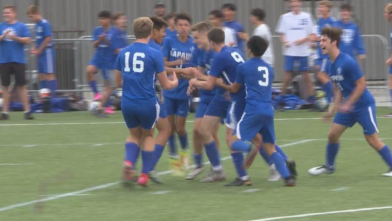 Kapaun boys soccer beats Carroll, 1-0.