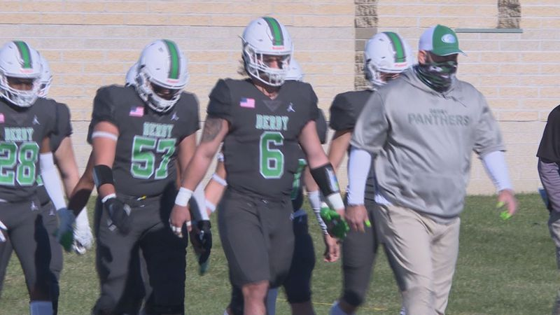 Derby blows by Blue Valley North to win third straight 6A title.