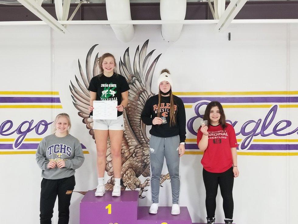 Pratt junior Livia Swift took first at the 143 weight class