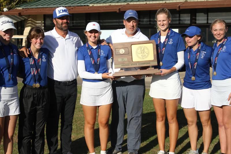 Kapaun Mt. Carmel took home the golf team championship for Class 5A