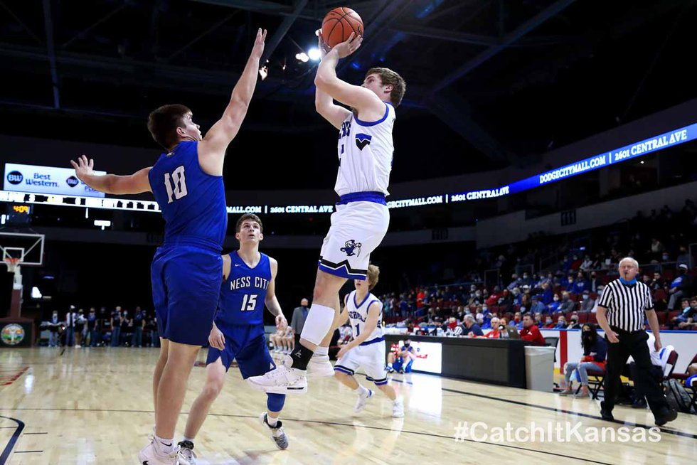 The South Gray boys defeated Ness City 69-58 in a 1AD1 State Basketball semifinal game at the...